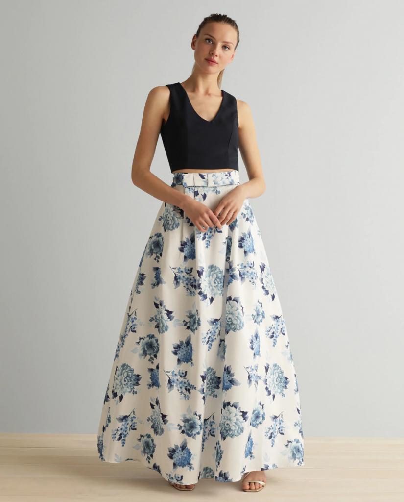 vestido multi estampado Adrianna Papell