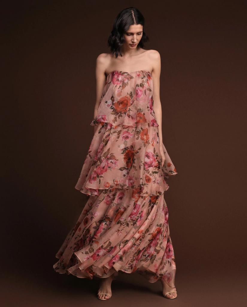 vestido largo de verano seda corte ingles
