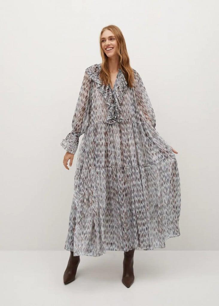 vestido largo otoño invierto mango 2020 2021